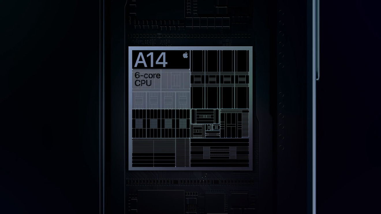 The A14 chip in the iPhone 12 Pro