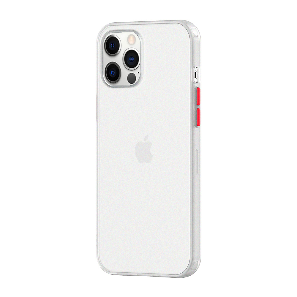 O Ozone iPhone 12 Pro Max Case, Bumper Edge Slim Ultra-Thin Lightweight Frosted Translucent Matte Protective Bumper Cover [ Designed Case for iPhone 12 Pro Max ] - White