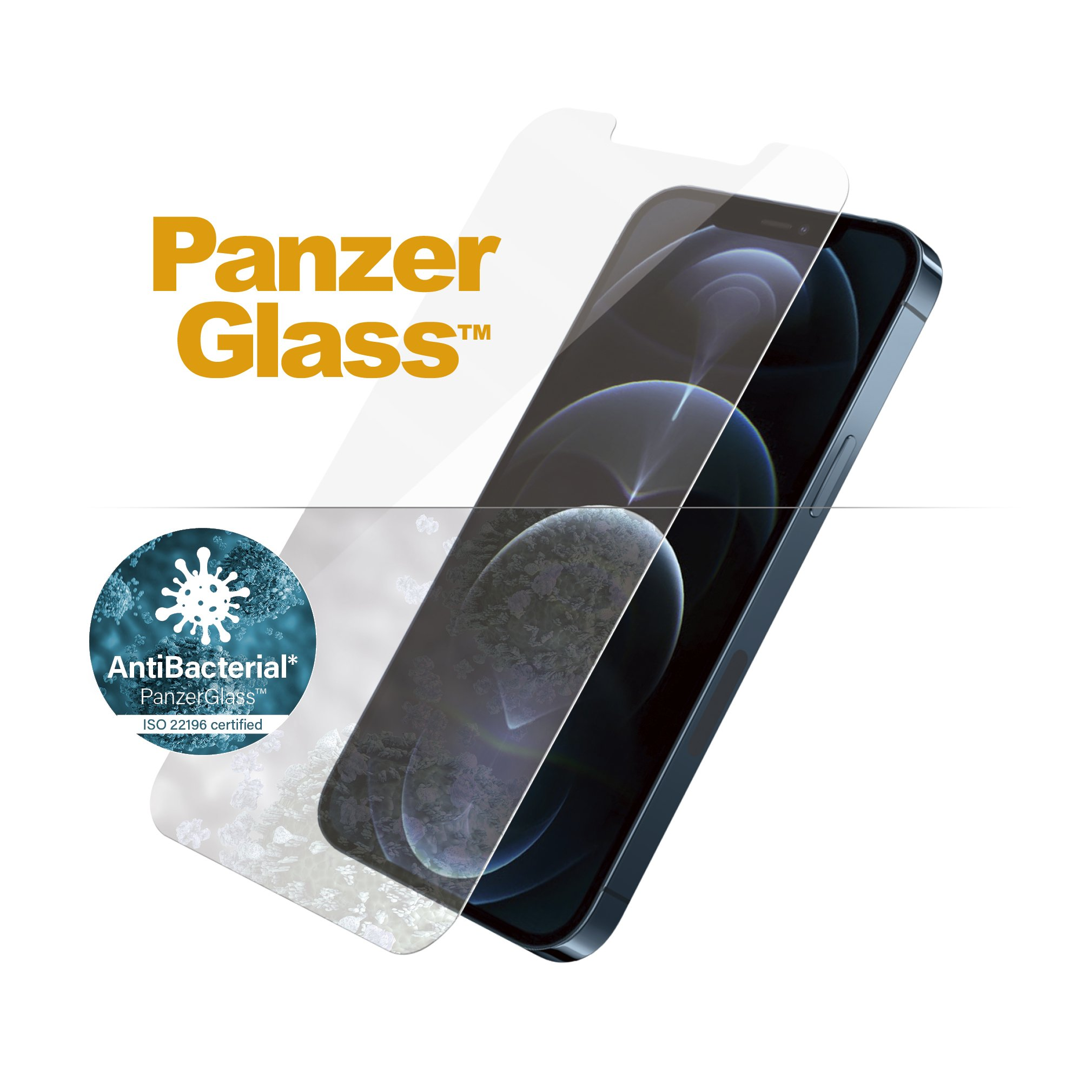 PanzerGlass iPhone 12 Pro Max Screen Protector - Standard Fit Tempered Glass - Clear