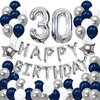Puchod Happy Birthday Decoration Banner Party Supplies Sets Latex Balloons For Girls Boys Womens Mens Blue Pd05Yl