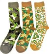 Hajjar Hunting Safaris Camouflage Socks Set Of 3 Designs/Pair, Top Quality Long Lasting Product For Daily Use, Size 43-46
