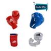 Bundle 4in1 Adidas Open Boxing Headguard + Double Mouthguard + Boxing Gloves + Reversible Elbow Guard