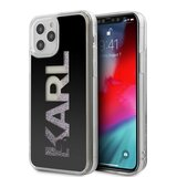 "Karl Lagerfeld Liquid Glitter Case Mirror with Multicolor Glitter for Apple iPhone 12 Pro Max (6.7"") - Black"