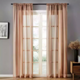 Deals For Less - Window Sheer , Beige Color Set Of 2 Pieces.