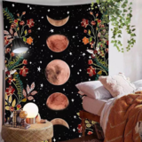 Deals For Less - Wall Tapestry Home Decor, Moon & Butterfly Design.