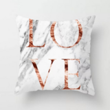 DEALS FOR LESS - 1 Piece Marble Love Design, Decorative Cushion Cover.