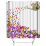 DEALS FOR LESS - Water Proof Shower Curtain, Flowers & Butterfly Design.