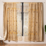 Deals For Less Modern Drape Tulle,  Double Layer Window Curtains Set Of 2 Pieces, Apricot Color