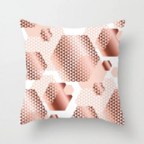 Deals For Less - Geometrical Rose Gold Design Cushion Cover.