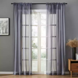 DEALS FOR LESS - Window Sheer , Grey  Color set of 2 Pieces.