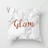 DEALS FOR LESS - 1 Piece Marble Glam Design, Decorative Cushion Cover.