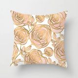 Deals For Less - Roses Rose Gold Design Cushion Cover.