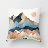 Deals For Less - Beautiful Mountains Design Cushion Cover.