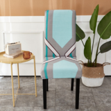 DEALS FOR LESS - 1 Piece Strechable Dining Chair cover, Dining room chair slipcover, Printed Geometric Design.