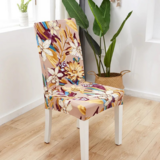 DEALS FOR LESS - 1 Piece Strechable Dining Chair cover, Dining room chair slipcover, Floral Design.
