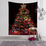 DEALS FOR LESS - Wall Tapestry Home Decor, Christmas Tree with Light Design.