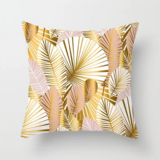 Deals For Less - Palm Leaves Rose Gold Design Cushion Cover.