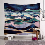 Deals For Less - Wall Tapestry Home Decor, Colorful Waves Design.