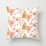 Deals For Less - Geometric Triangle Rose Gold Design Cushion Cover.