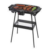 Geepas 2000W Electric Barbecue Grill with Stand - Table Grill, Auto-Thermostat Control with Overheat Protection - Space Saving, Waterproof - Ideal for BBQ, Perfect for both Indoor & Outdoor cooking