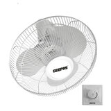 """Geepas 16"""" Orbit Ceiling Fan 60W - Quiet Operation, Speed Controller with 3 Leaf ABS Blades with Meatal Grill White"""