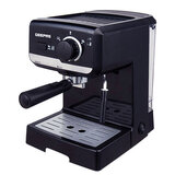 Geepas GCM6108 1.5L Cappuccino Maker 1140W - 15 Bar Power Brewing Pump, Dual Stainless Steel Filters, Aluminium Alloy Boiler, Overheat & Over Pressure Protected, Indicator On\Off Lights   2 Years Warranty