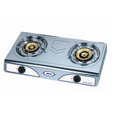 Geepas GK73 Stainless Steel Gas Stove Burner - 2 Burner Hop, Auto Ignition Cooktop, Robust Build, High fuel-efficiency, Anti-Skid Feet, Easy to Clean - 2 Burner Gas Stove | 2 Years Warranty