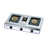 Geepas Stainless Steel Gas Cooker with 3 Burners