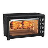 Geepas 47L Electric Oven 1500W -  Oven with Rotisserie and Convection functions | Grill Function, 60 Minute Timer & Inside Lamp | 5 Control Knobs | 2 Years Warranty