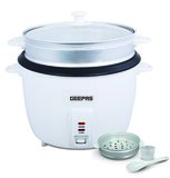 Geepas 2.8L Rice Cooker/Steamer with Non-Stick Cooking Pot | 900W | Automatic Cooking, Steam Vent Lid & Simple One Touch Operation |Make Rice, Steam Healthy Food & Vegetables | 2 Year Warranty
