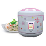 Geepas GRC4331 3.2L Electric Rice Cooker with Steamer - 1250W | Non-Stick Inner Pot, Automatic Cooking, Easy Cleaning, High-Temperature Protection - Make Rice & Steam Healthy Food & Vegetables