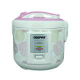 Geepas 1.5 L Electric Rice Cooker with Steamer - 500W | Non-Stick Inner Pot, Automatic Cooking, Easy Cleaning, High-Temperature Protection - Make Rice & Steam Healthy Food & Vegetables | 2 Years Warranty