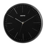 Geepas GWC26012 Wall Clock - Silent Non-Ticking, Round Decorative Wall Clock for Living Room, Bedroom, Kitchen (Battery Not Included) 3D Silver Dial   2 Years Warranty