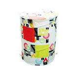 Royalford RF5173 Premium Pop-Up Laundry Hamper - Foldable Hamper with Carry Handles   Ultra Durable Laundry Basket (42 x 53) CM   Polyester Collapsible Laundry Bin   Storage Solution (Round)