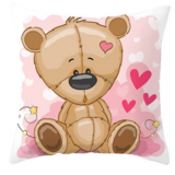 DEALS FOR LESS - 1 Piece Cute Bear Design, Decorative Cushion Cover.
