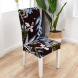 DEALS FOR LESS - 1 Piece Strechable Dining Chair cover, Dining room chair slipcover, Leaves Design.