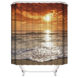 DEALS FOR LESS - Water Proof Shower Curtain, Sunset Design