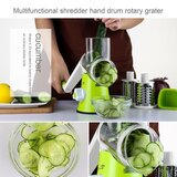 Table Top Drum Grater with 3 Blades