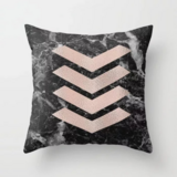 Deals For Less - Arrows On Marble Design Cushion Cover.