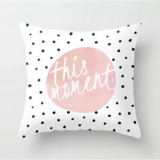 Deals For Less - This Moment, Polka Dots Design Cushion Cover.