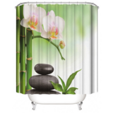 DEALS FOR LESS - Water Proof Shower Curtain, Stone & Orchid  Design