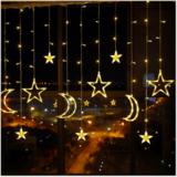 Deals For Less - Moon & Star Shape Led Light String , Waterproof Decorative Light For Indoor & Outdoor.