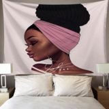 DEALS FOR LESS - Wall Tapestry Home Decor, African Girl Design.