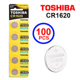 Toshiba CR1620 3V Lithium Coin Cell Battery One Box