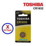 Toshiba CR1632 3V Lithium Coin Cell Battery 10 pack of Single Pcs