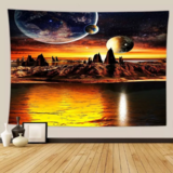 """Deals For Less - Wall Tapestry Home Decor, Sunset Design.  """