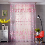 Deals For Less Tulip Tulle,  Window Sheer Curtains Set Of 2 Pieces, Pink Color