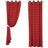 Parry Life Fully Lined Eyelet Window Curtain - Top Wide Window With Stylish Design, Heavy Jacquard Fabric - Jacquard Panels 135 X 230 Cm - Curtain For Living Room, Bedroom, Kid'S Rooms