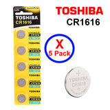 Toshiba CR1616 3V Lithium Coin Cell Battery fIVE Pack of 5 batteries