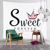 Deals For Less - Wall Tapestry Home Decor, Sweet Forever Print.